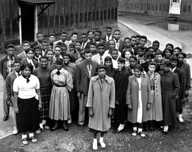 Robert R. Moton High School students, 1953.